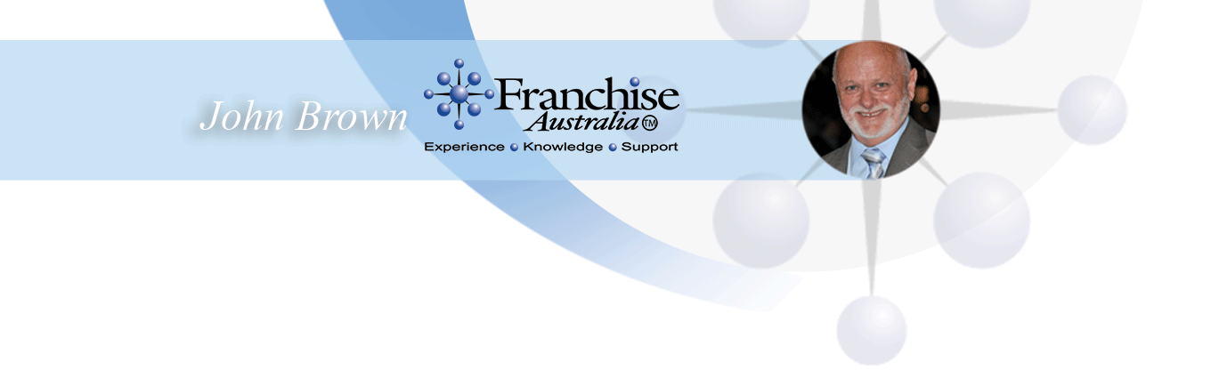 John Brown and Franchise Australia logo: Experience, Knowledge, Support